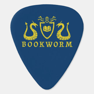Bookworm Blazon Guitar Pick