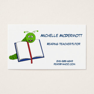 Bookworm Business Card