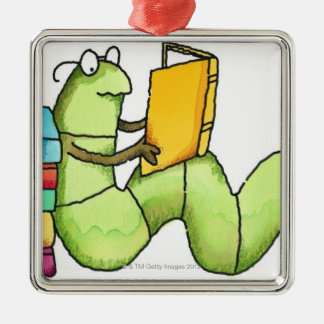 Bookworm Christmas Ornament