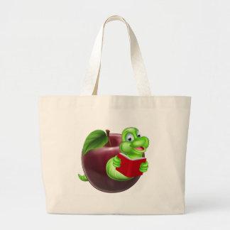 Bookworm concept large tote bag