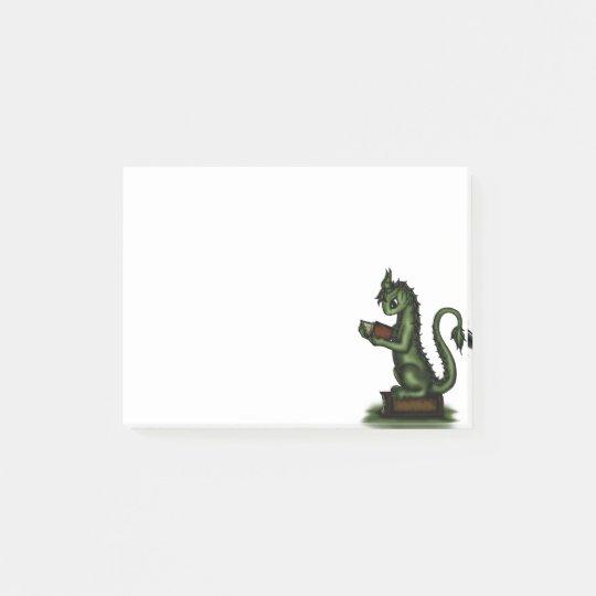 Bookworm Dragon Post-it Notes