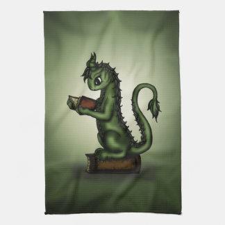 Bookworm Dragon Tea Towel