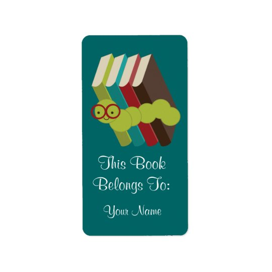 Bookworm Gift Bookplates Stickers Gift Address Label
