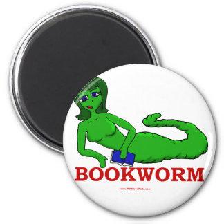 Bookworm Girl 6 Cm Round Magnet