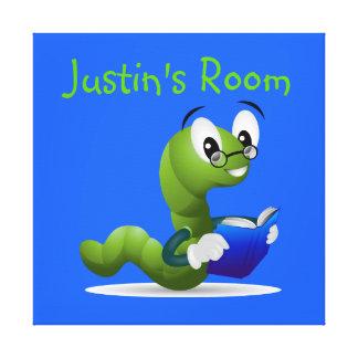 Bookworm Kid's Bedroom Canvas Art Stretched Canvas Print