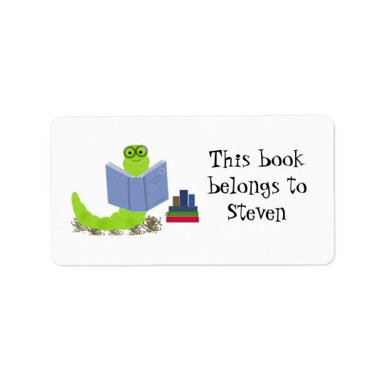 Bookworm Label