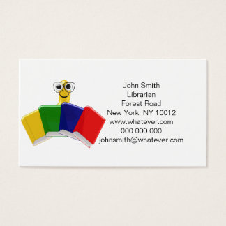 Bookworm Librarian Business Card