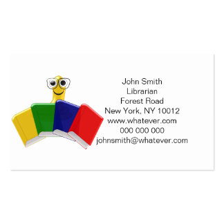 Bookworm Librarian Pack Of Standard Business Cards