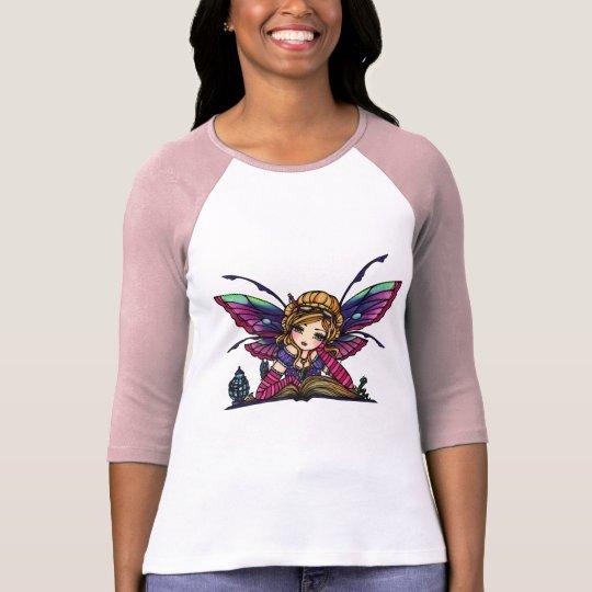 Bookworm Library Fairy Fantasy Art T-Shirt