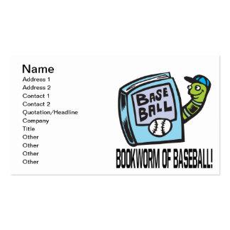 Bookworm Of Baseball Pack Of Standard Business Cards