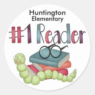 Bookworm Star Reader - SRF Classic Round Sticker