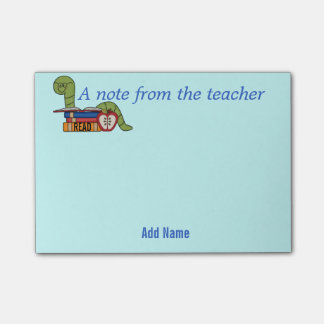 Bookworm Sticky Notes for Teachers Post-it® Notes