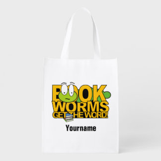 Bookworms custom reusable bag