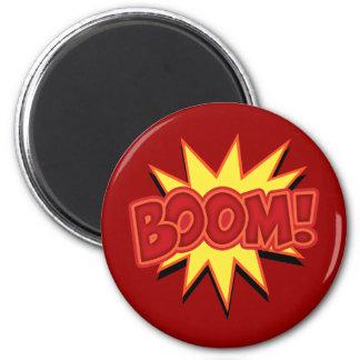 Boom! 6 Cm Round Magnet