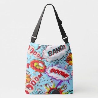 boom bang pow comic all over shoulder tote