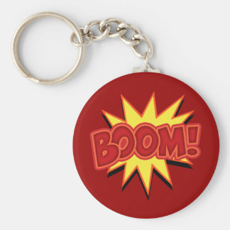 Boom! Basic Round Button Key Ring
