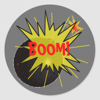 Boom Bomb Classic Round Sticker
