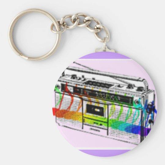 Boom BOX Basic Round Button Key Ring