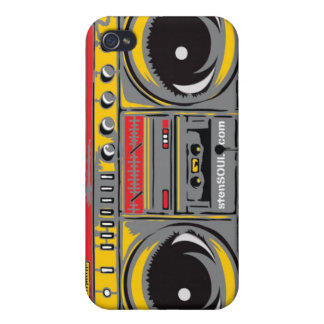 Boom Box EYEPhone 4 Case GREY iPhone 4/4S Cases