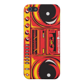 Boom Box EYEPhone 4 Case RED iPhone 5 Cover