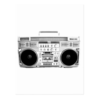 Boom Box Ghetto Blaster 80s 70s Cassette player Postcard