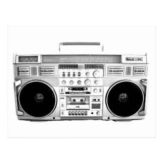 Boom Box Ghetto Blaster 80s 70s Cassette player Postcard