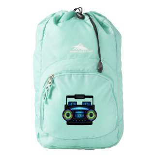Boom Box Radio Retro 80s Backpack