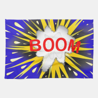 Boom Cartoon Bubble Hand Towels