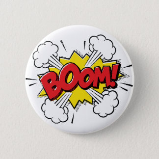 Boom Cartoon Design 6 Cm Round Badge