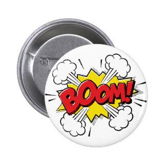 Boom Cartoon Design 6 Cm Round Badge
