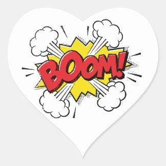 Boom Cartoon Design Heart Sticker