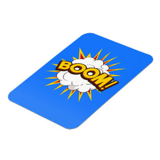 Boom! Cartoon Explosion Rectangular Photo Magnet
