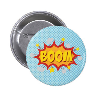 BOOM comic book sound effect 6 Cm Round Badge