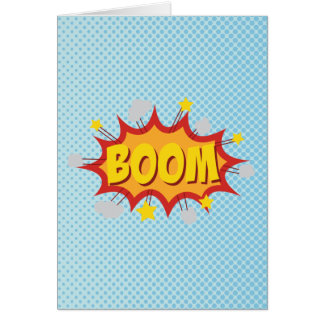 BOOM comic book sound effect Card