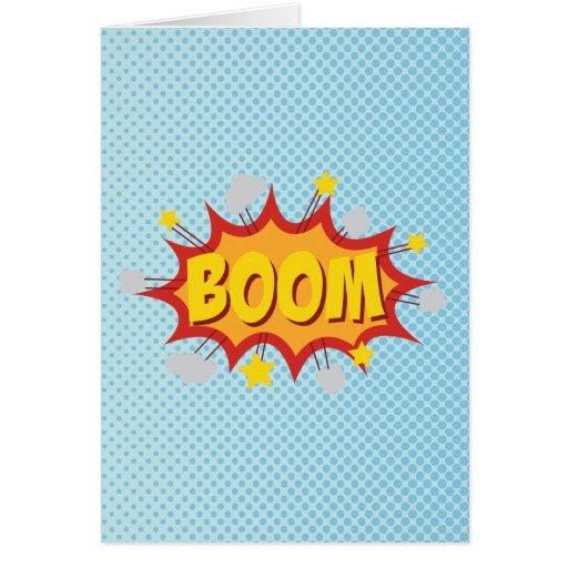BOOM comic book sound effect Cards