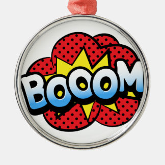 Boom dynamite Silver-Colored round decoration