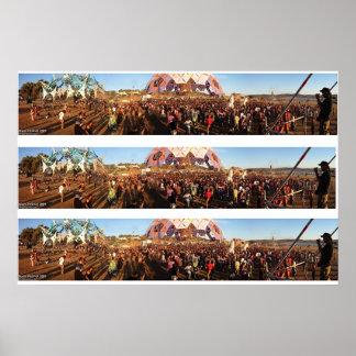 Boom Festival 2004 -Huge Triple print- Poster