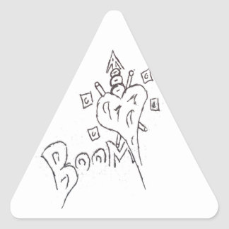 Boom Heart Triangle Sticker