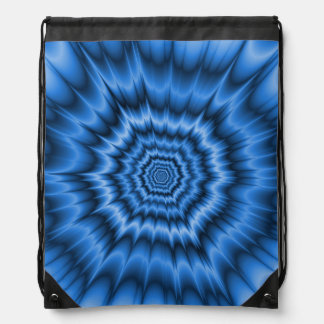 Boom! in Blue  Drawstring Bag