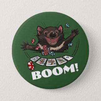 Boom! Tasmanian Devil Royal Flush Poker Cartoon 7.5 Cm Round Badge