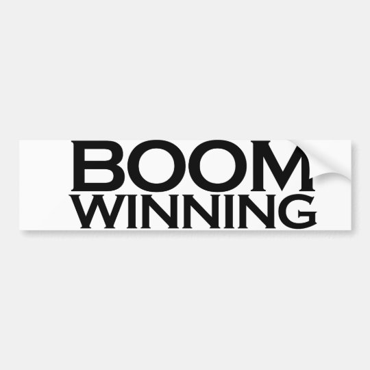 Boom winning bumper sticker