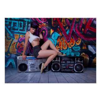 Boombox Babe Poster