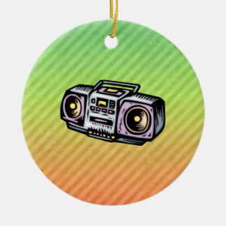 Boombox Christmas Ornament