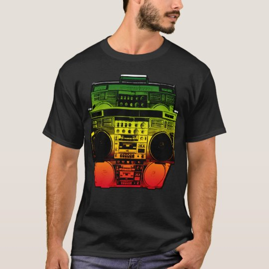 Boombox Colour Fade ( Rasta ) T-Shirt