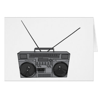 Boombox Ghetto Blaster Jambox Radio Cassette Note Card