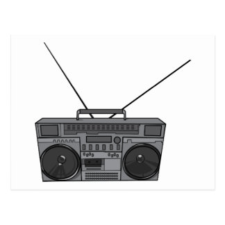 Boombox Ghetto Blaster Jambox Radio Cassette Postcard