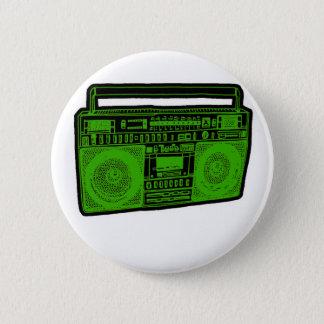 boombox ghetto blaster radio 6 cm round badge