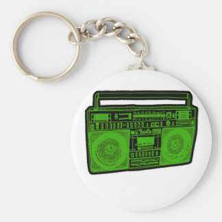 boombox ghetto blaster radio key ring