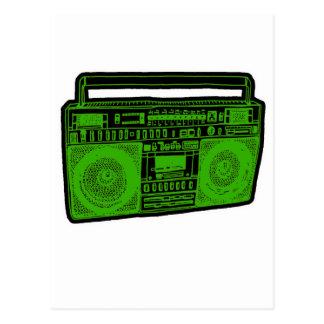 boombox ghetto blaster radio post cards