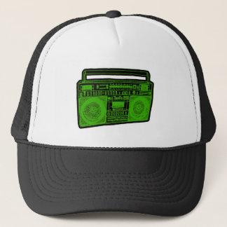 boombox ghetto blaster radio trucker hat